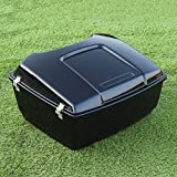 XMT-MOTO Black King Tour Pak Pack Trunk For Harley Touring Electra Glide Road King 1997-2013