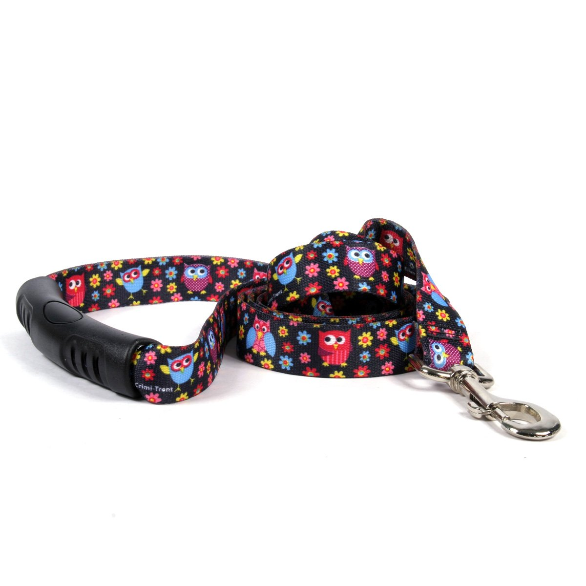 Yellow Dog Design Bright Owls Ez-Grip Dog Leash with Comfort Handle 3/4'' Wide and 5' (60'') Long, Small/Medium