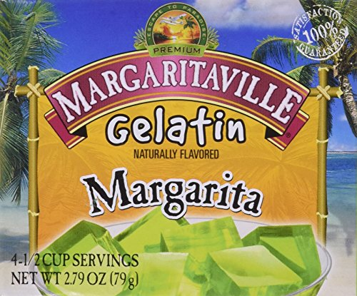 Margaritaville Gelatin - Margarita Flavor - 6 Pack of 2.79 Oz Boxes
