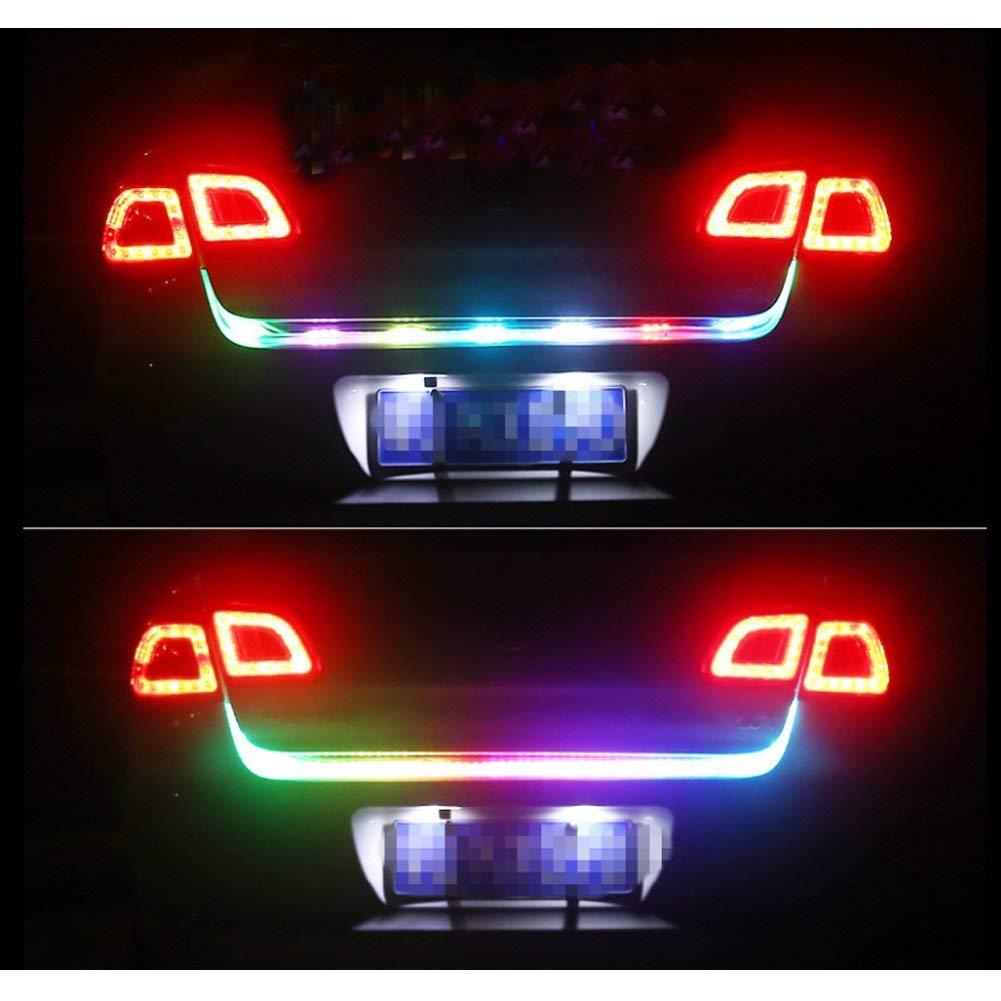 Tira de cola luz trasera para coche 12/V Universal 5/Funci/ón port/ón trasero tira de luces barra de luz de circulaci/ón diurna//luz de intermitente//Luz de freno//luz de marcha atr/ás//luz de flash doble