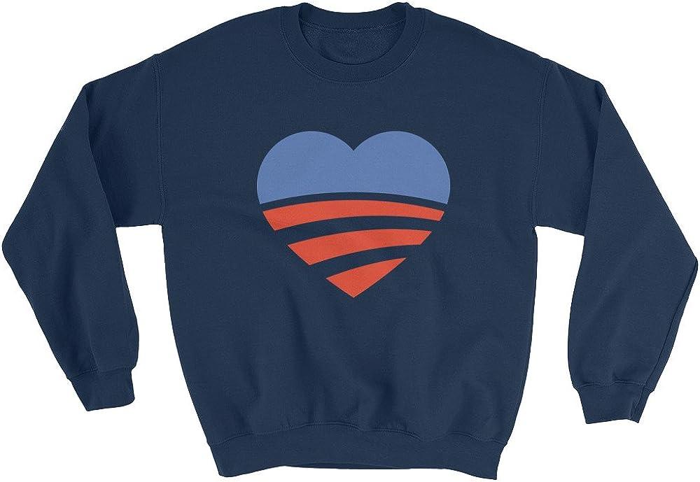 Wet Nose Studio 44th President Barack Obama Heart and Love Sweatshirt