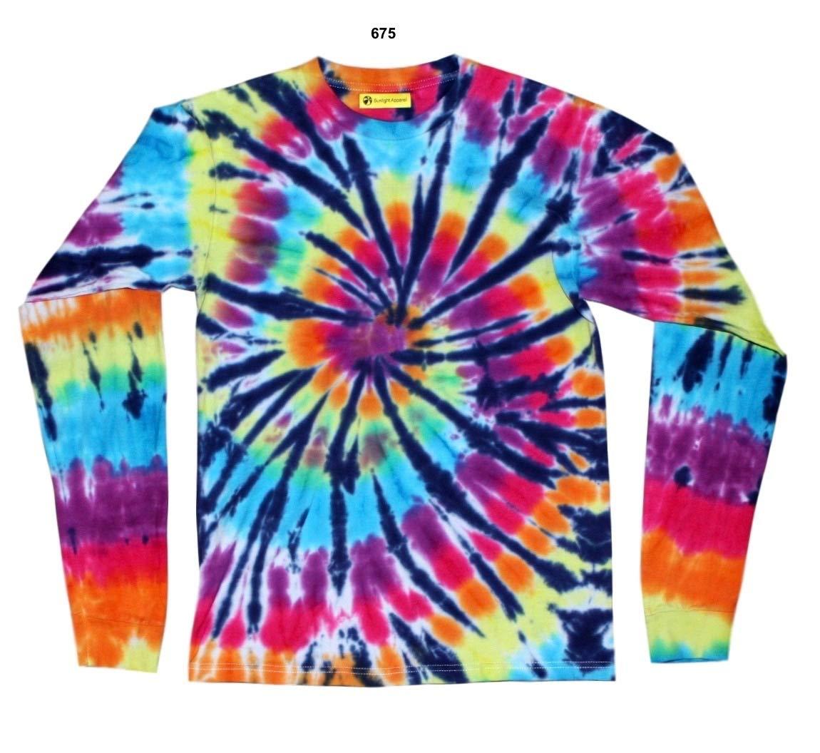 Amazon Com Tie Dye Long Sleeve Shirt Unisex Men S Small Handmade