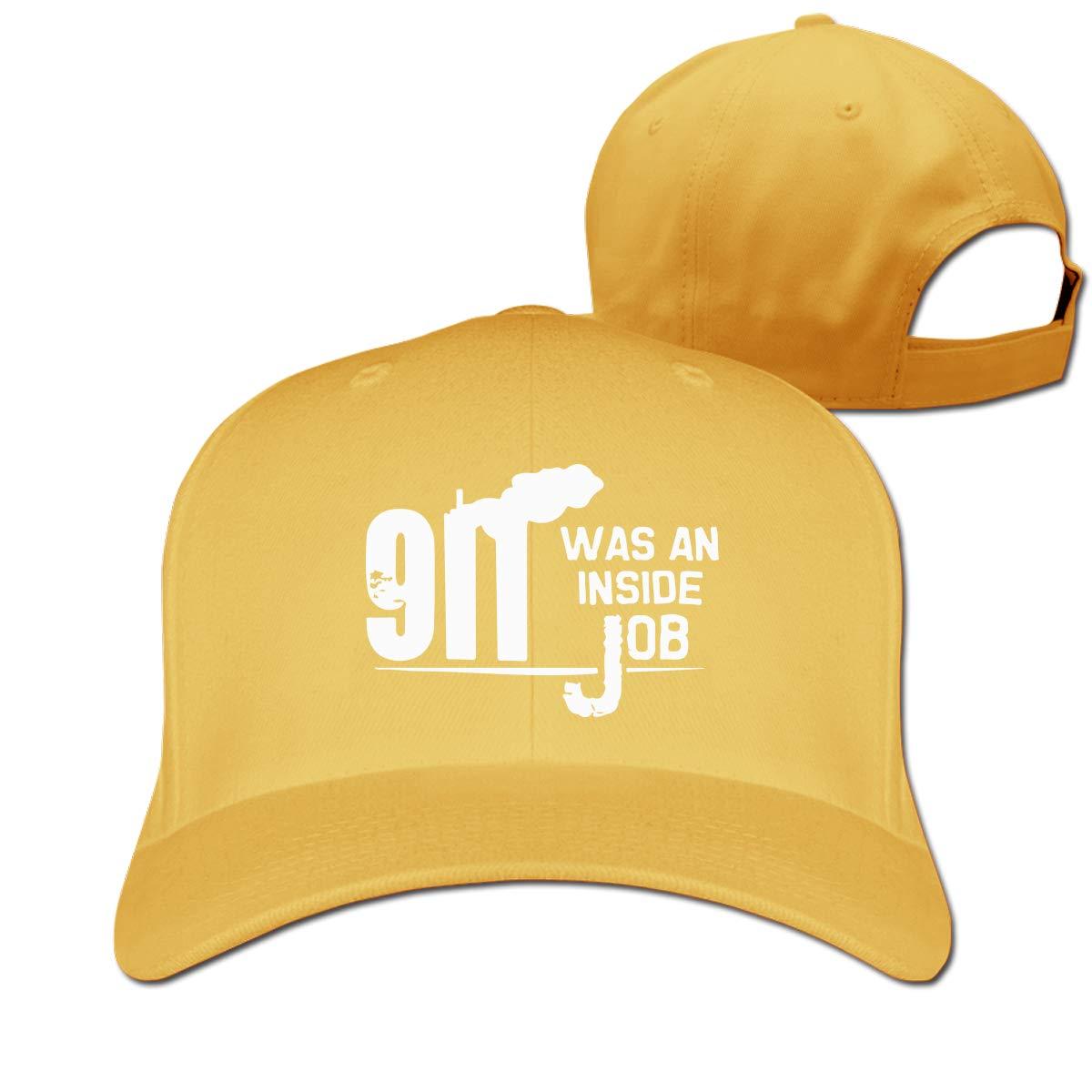 911 Inside Job Unisex Pure Color Baseball Cap Classic Adjustable Sun Hat