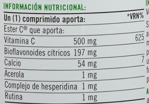 Natures Bounty Ester-C 500 mg Vitamina C - 90 Tabletas: Amazon.es: Salud y cuidado personal