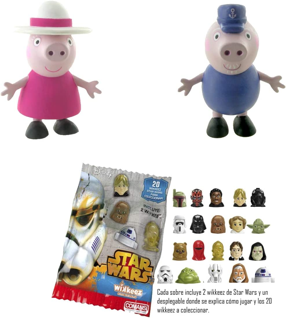 Lote 2 Figuras Comansi Abuelos Peppa Pig - Abuela Pig - Abuelo Pig ...
