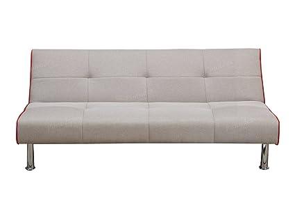 Poundex F6822 Sofa Cama de Estilo Contemporáneo, color Gris Pardo ...