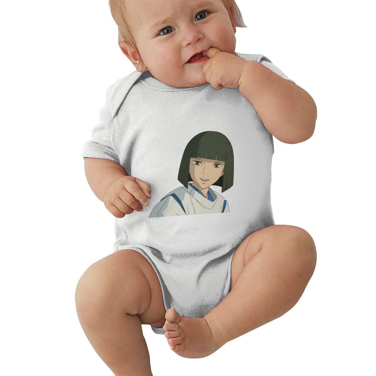 LOUHART Baby Boys Girls O-Neck Short Sleeve Jersey Bodysuit Spirited Away Funny Jumpsuits Sleepwear Black