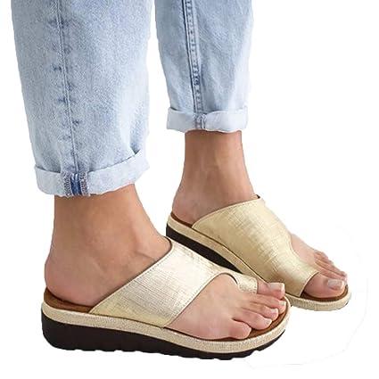 ANNA Zapatos De Mujer con Sandalias con Plataforma De Juanete, Zapatos De Verano para Mujer