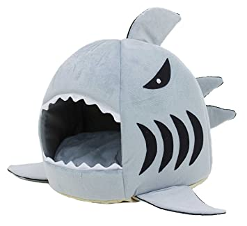 NOBRAND petstyle Mascota casa tiburón Tipo Cama Gato casa Mascotas Cama Gato Cama Perro casa sofá tiburón Tipo (Gris, M tamaño): Amazon.es: Hogar
