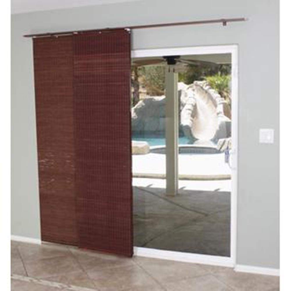 Amazon.com: Lewis Hyman 0224114 Flat Stick Panel Track Shade, 78 Inch Wide  By 84 Inch Long, Mahogany: Home U0026 Kitchen