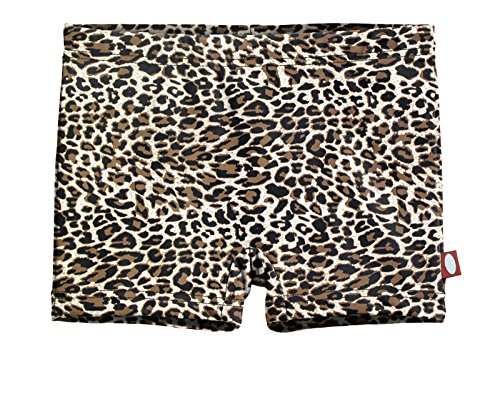 - City Threads Girls' Swimming Suit Bottom Boy Short UPF50+ Sun Protection for Beach Pool Summer Fun, Leopard Print, 16