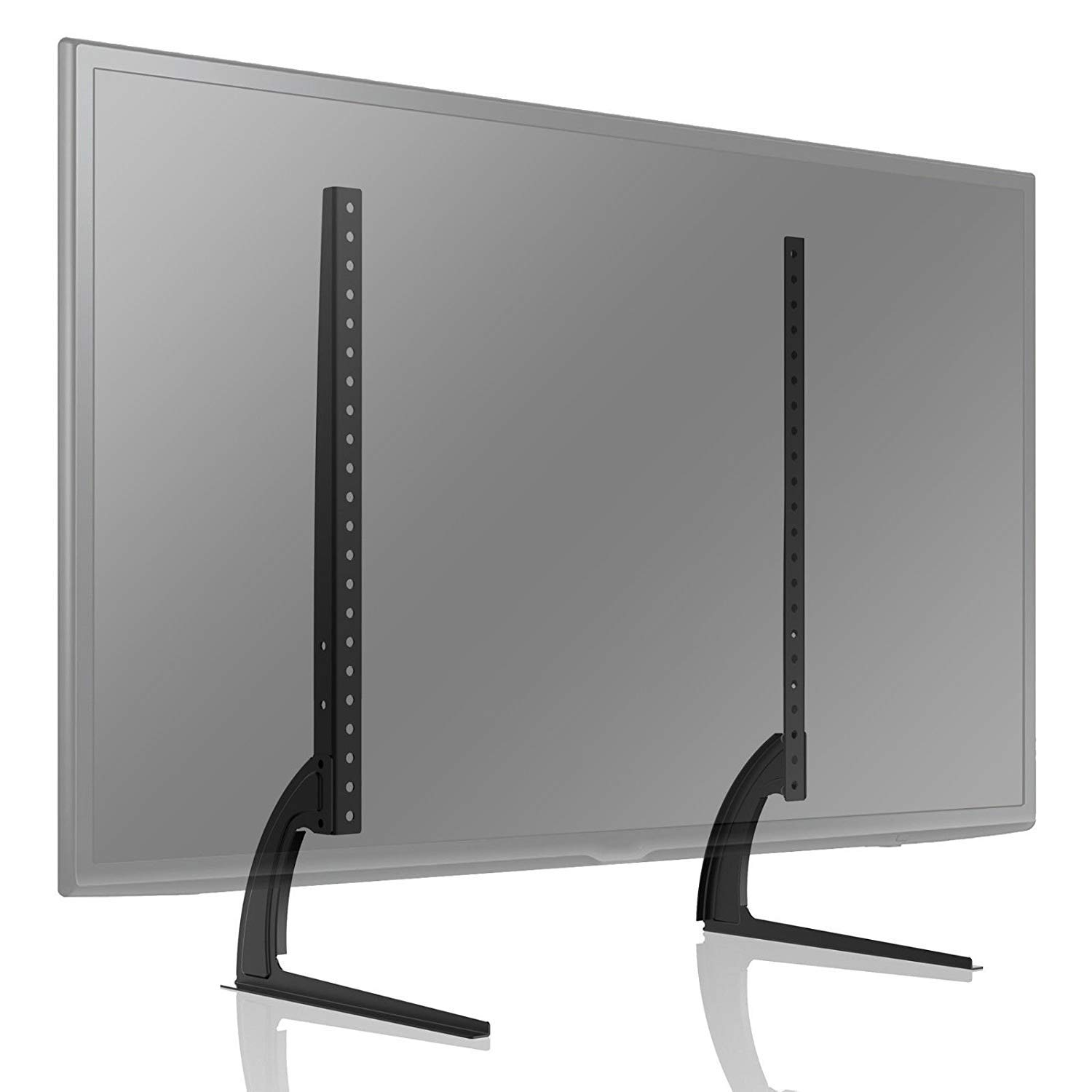 TAVR Universal Table Top TV Stand for Most 27 30 32 37 40 42 47 50 55 60 65 inch Plasma LCD LED Flat or Curved Screen TVs with Height Adjustment,VESA Patterns up to 800mm x 500mm,88 Lbs,UT3001 by TAVR Furniture
