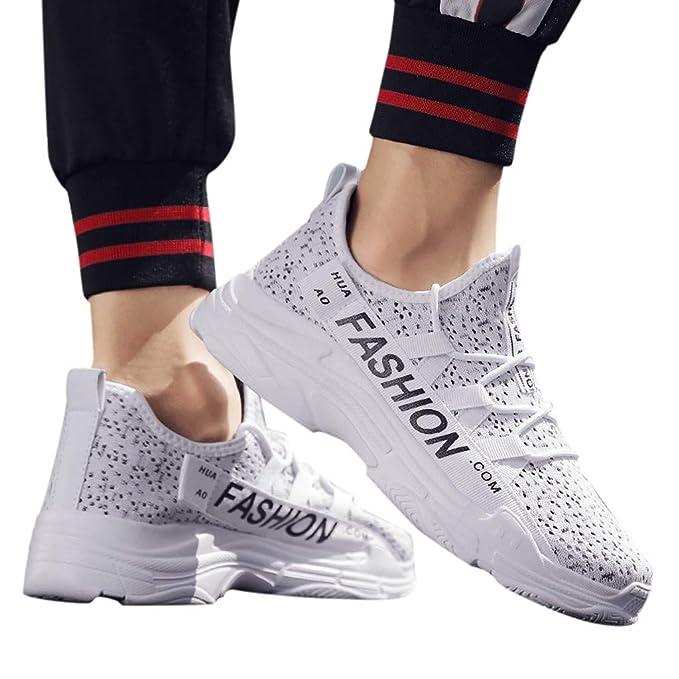 Mymyguoe Zapatillas Running Hombre Zapatillas Deportivas Hombre De Cordones Gimnasio Zapatos para Hombre Zapatillas de Senderismo Transpirable Zapatos ...