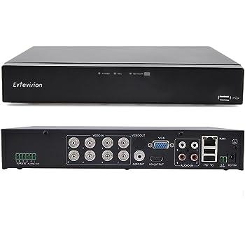 Amazon Com Evtevision 8ch Hybrid 5 In 1 1080p Lite