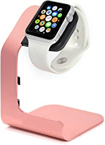 Apple Watch Stand-Tranesca Apple Watch Charger Stand for Series 6 / Series 5 / Series 4 / Series 3 / Series 2 and SE (38mm / 40mm / 42mm / 44mm) - Pink Sand - Must Have Apple Watch Accessories
