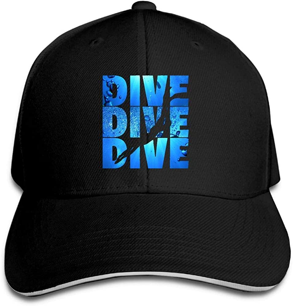 JustQbob1 Dive Dive Dive Outdoor Sandwich Duck Tongue Cap Adjustable Baseball Hat Trucker Cap