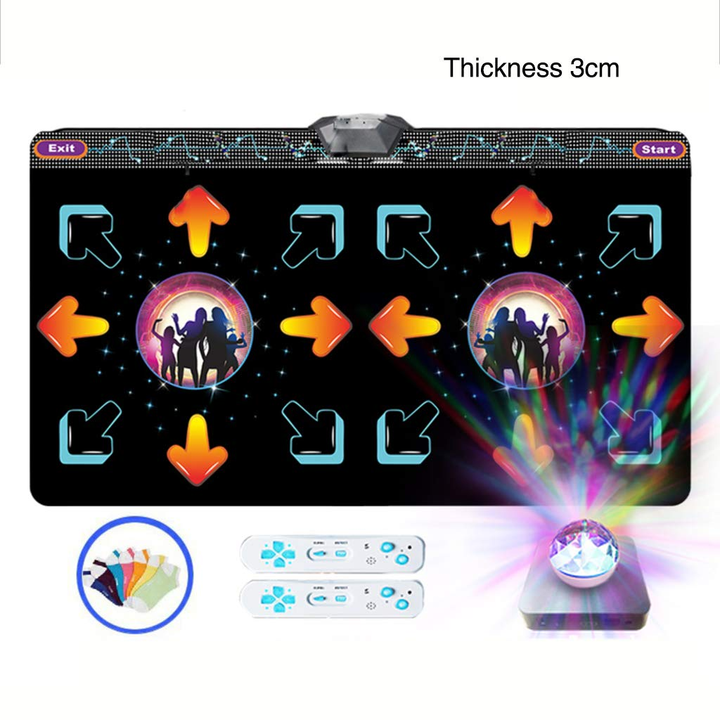WEWE Double Wireless Dance Pad,Thicken Not-Slip Dance Pad Children Motion Dance Revolution Dancing Step Play Mat-e 166x93cm(65x37inch) by WEWE (Image #1)