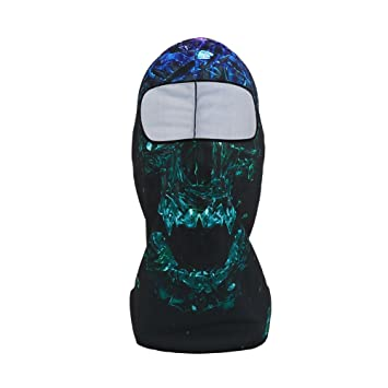 Máscara Pasamontañas Protege Ciclismo de Esquí, Tela de Licra, Protección UV, Motocicleta,