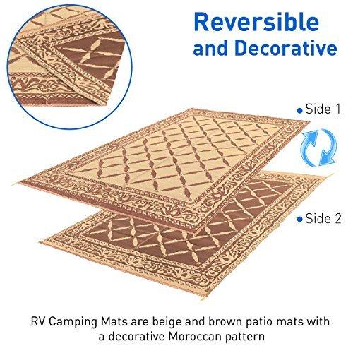 RV Camping Mats Reversible Carrying