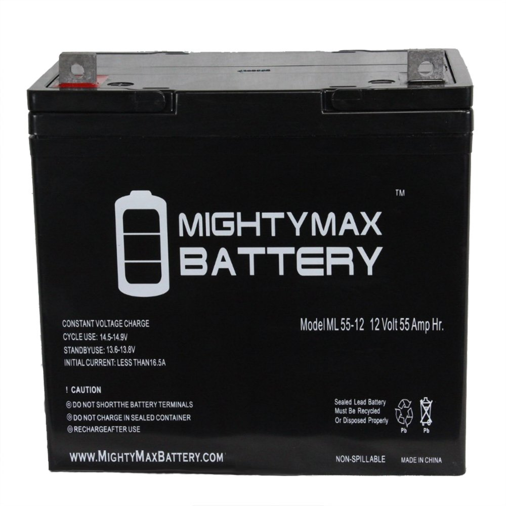 12V 55Ah Replacement Battery for Pride Mobility Pursuit SC713 Scooter - Mighty Max Battery brand product
