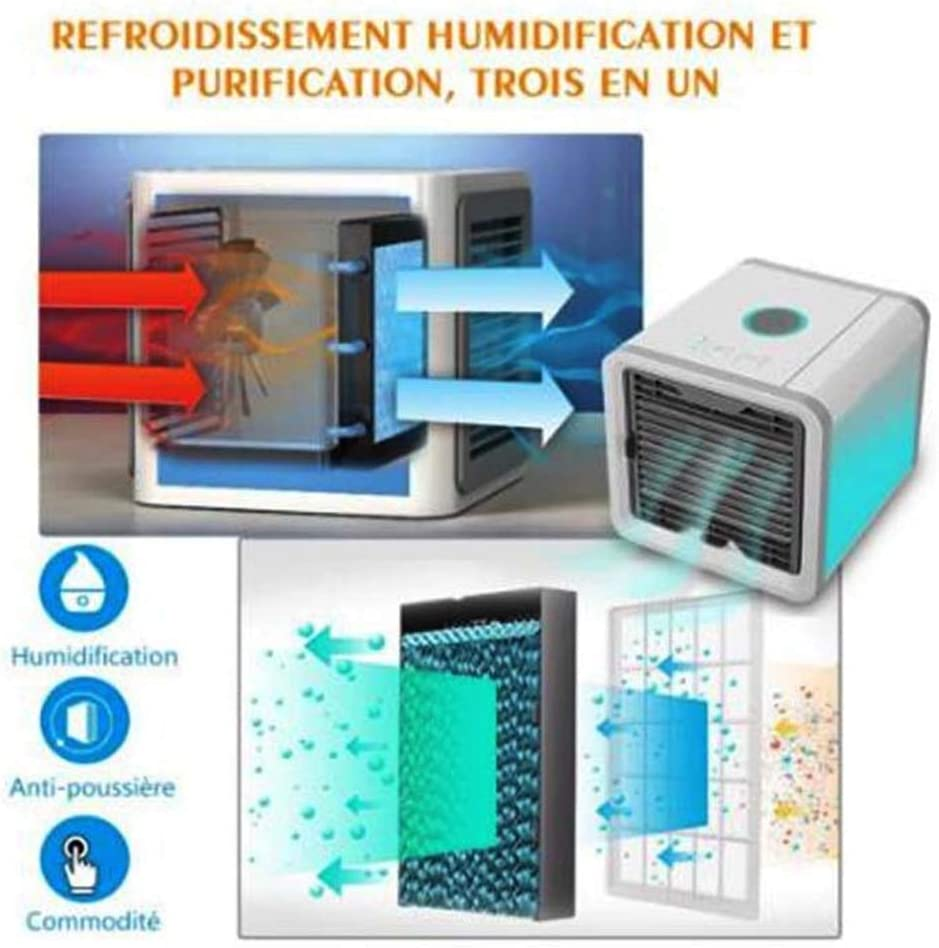 Cooling Fan Refrigeration Humidifying and Cooling Fan USB Portable Office Desktop