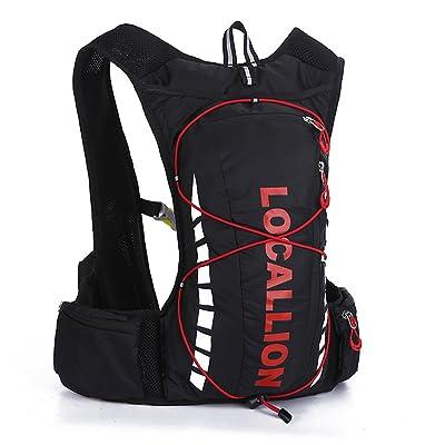 Holzsammlung Etanche Ultra-léger Sac à Dos d'Hydratation avec Poche à Eau 2L pour Randonnée, Course, Vélo, Cyclisme, Footing, Voyage, Alpinisme