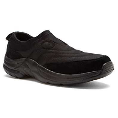 Propet Men's Wash & Wear Slip-On II Suede Shoe Brownie/Black 10 X (3E) & Cleaner