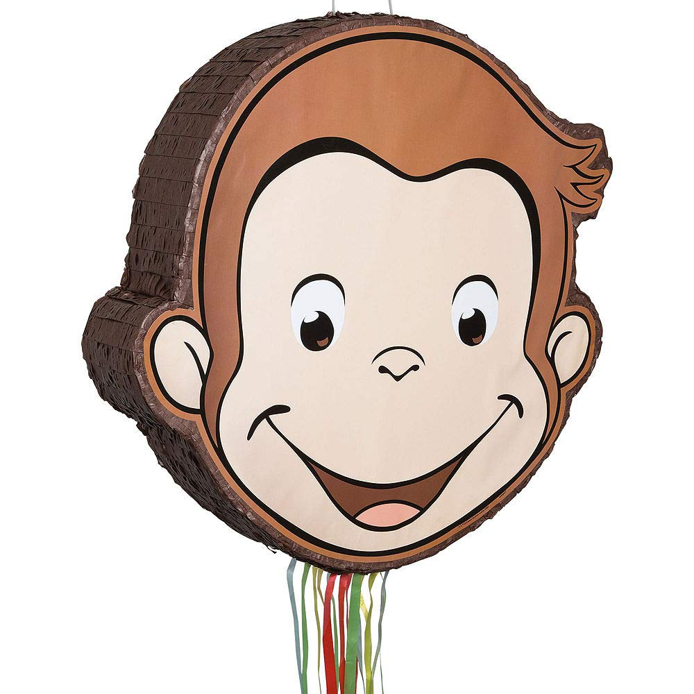 Party City Curious George Pinata Kit for Birthday Party, Includes Bat, Blindfold and 48pc Favor Pack by Party City (Image #2)