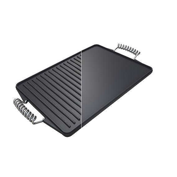 Campingaz 2000014577 Plancha premium de hierro fundido reversible, negro, 44 x 24 x 5 cm: Amazon.es: Jardín