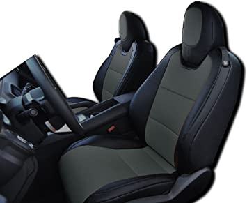2010-2015 Chevy Camaro Black//Charcoal Artificial leather Custom fit Front seat cover