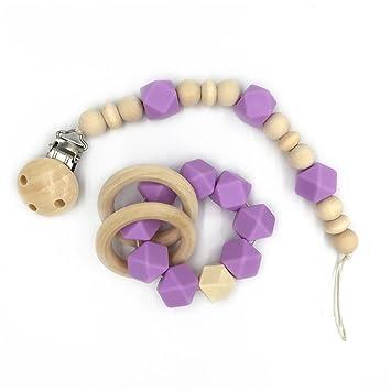 Amazon.com: Amyster - Anillo de madera para bebé, juguetes ...