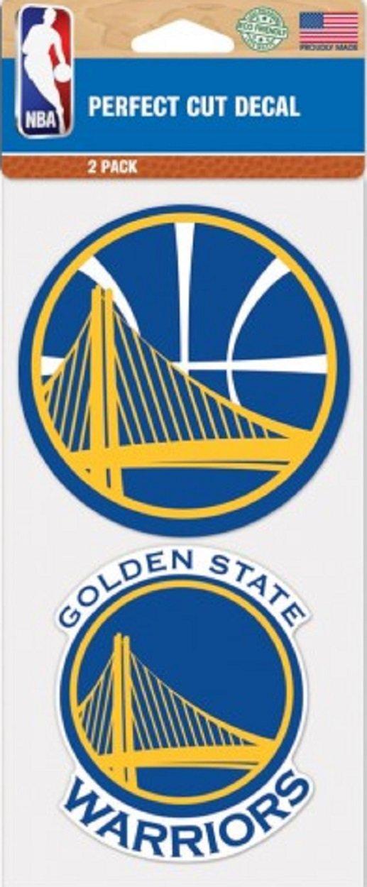Golden State Warriors NBA Logo 2-Pack Perfect Cut Decal 4 x 8