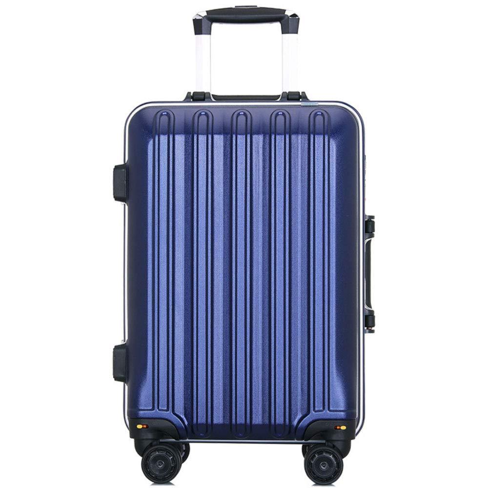 トロリーケース24インチスーツケースユニバーサルホイールスーツケース20インチ搭乗学生パスワードボックス (Color : 青, Size : 20 inch)   B07R8X52JJ