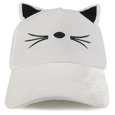 787b1352707 Amazon.com  Costume Cat Ear and Whisker Velvet Structured Baseball ...
