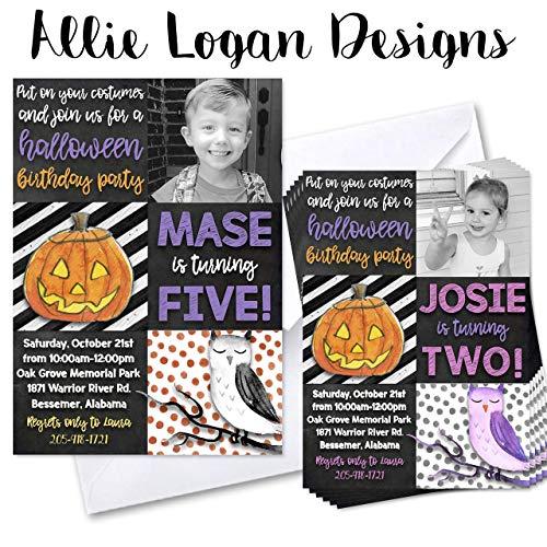 Halloween Birthday Invitations With -