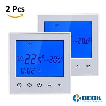 Termostato de habitación Digital con pantalla táctil, de la marca Beok