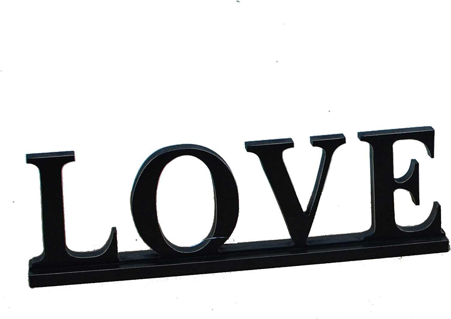 Grace Home Hope Love Tabletop Wood Sign Free Standing Wood Art Decor Love Black Home Kitchen