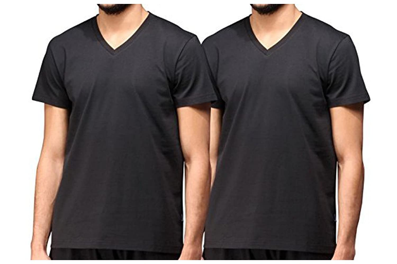 Jockey American V-Shirt 4er Pack - Exzellenter Tragekomfort in angenehm weicher Single Jersey Baumwoll-Qualität - S bis 6 XL