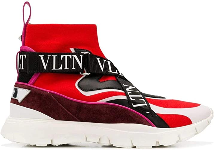 Luxury Fashion | Valentino Mujer QW0S0H51SJVBJ7 Rojo Zapatillas ...
