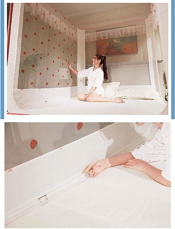 VOSAREA Moskitonetz Betthimmel Mongolische Jurte Dome Net Bettw/äsche Spielzelt Pink 120x200cm