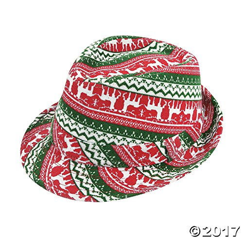 Fun Express Ugly Sweater Fedora Hat