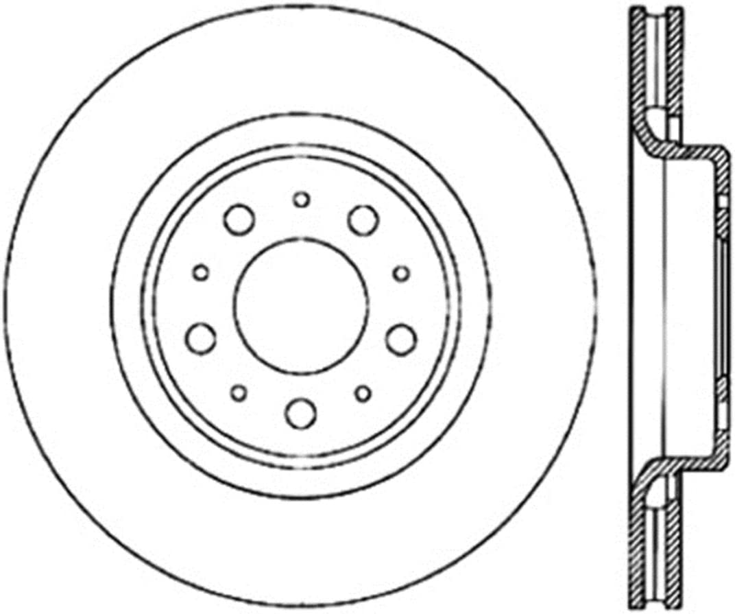 1 Pack Front Left StopTech 127.39023L Sport Drilled//Slotted Brake Rotor