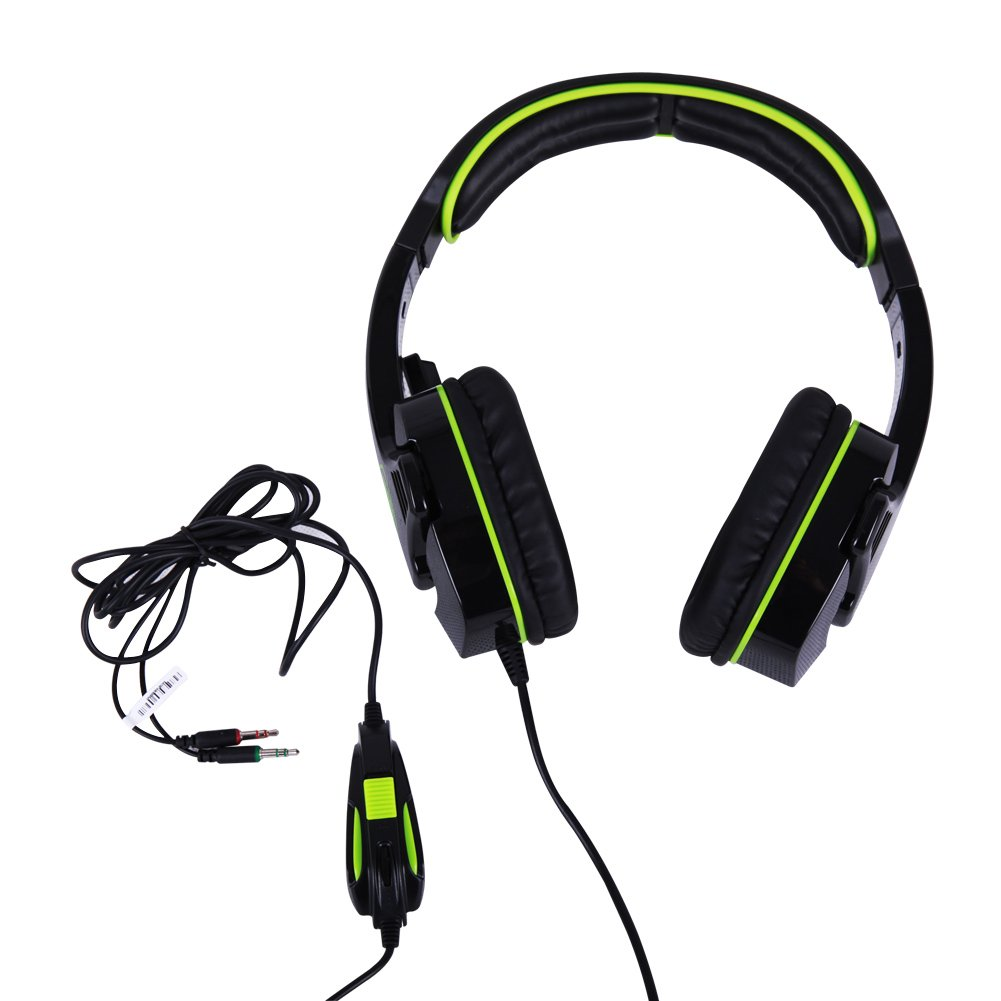 Buy Sades Sa 708 Over Ear Headphone Stereo Gaming Headset Sound Blue With Mic Green Black Online At Low Prices In India Reviews Ratings