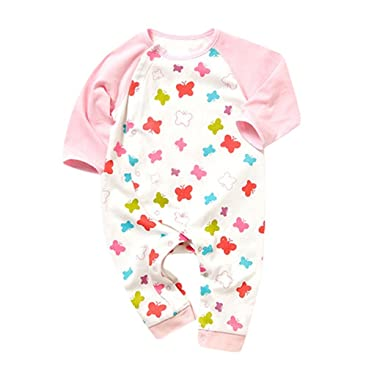 2feafd082 SECRET CHERISH Newborn Girls Bodysuit Flower Print Long Sleeve Cotton  Romper + Headband Set For 0-24 Months Baby
