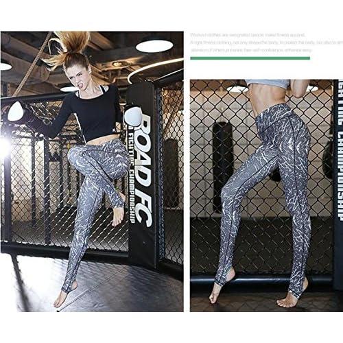 WYFC Pantalon de yoga Leggings Collants Bas Séchage rapide Respirable Taille moyenne Haute élasticité Vêtements de sport Femme Yoga Pilates