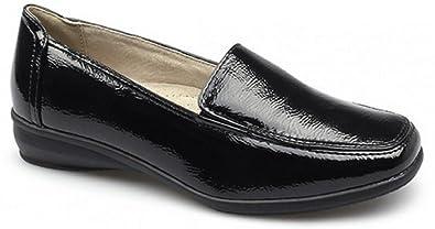 selezione mondiale di comprare popolare piuttosto fico Scarpe basse da donna in pelle, con pianta larga, scarpe da lavoro comode e  morbide