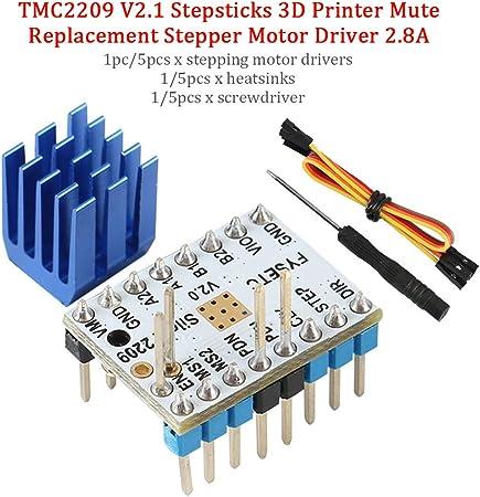 1/5 Unids TMC2209 V2.1 Controladores de Motor Paso a Paso ...