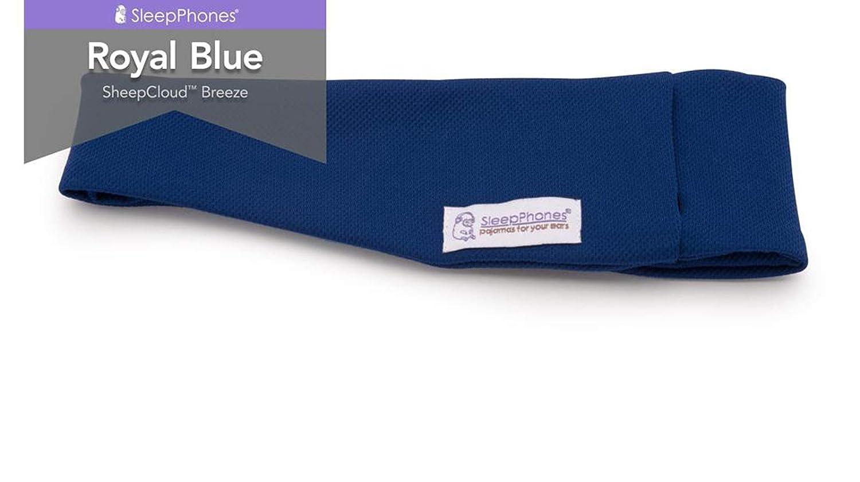 AcousticSheep SleepPhones Kabellos Bluetooth Stirnband-Schlaf-Kopfh/örer Weiches grau Vlies mittel