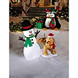 4' Airblown Snowman and Dog - CFP