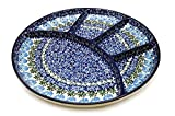Polish Pottery Dish - Divided Appetizer - Antique Rose
